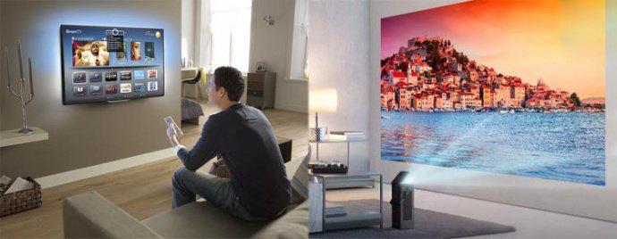 Что лучше проектор или телевизор - Проектор вместо телевизора для дома