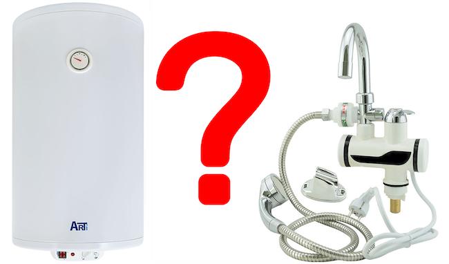 Что лучше накопительный или проточный электрический водонагреватель